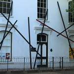 Sculptural installation for the Exhibition 'Drawing a Line' at the B-Street Gallery, Stellenbosch, South Africa