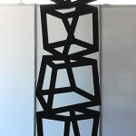 Balancing act. Sculpture made out of mild steel
