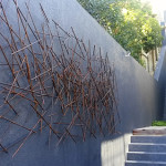 Sculpture made from mild steel bars. Camps Bay. South Africa