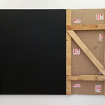 Wooden Crate with Black line painting