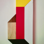 Sculptural Painting . Perspective. Wood And Road Paint