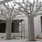 Sculptural trees for Lord Charles Hotel, Somerset West