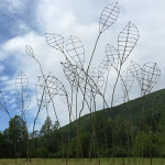 Catching the wind. Sculpture Installation made for HUMUS Park . Polcenigo, Italy. 2016