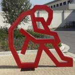 Contemplation. Mild steel sculpture. 2.2 x 2.2 meters