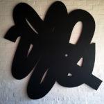 Scribble. Wood, Sculptural wall piece