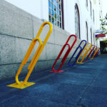 Paper Clips As Bicycle Stands. Stellenbosch, South Africa