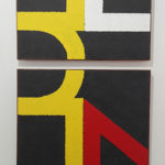 Road markings painting. road paint on canvas