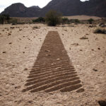 Shadow line. Aus, Namibia
