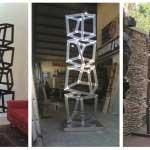 Mild steel sculpture, 3 meters high.