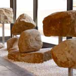 Installation of balancing stones in the foyer of the law firm Sonnenbergs, Stellenbosch, South Africa.